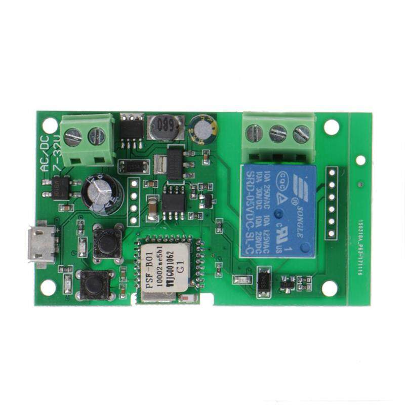 DC 5V-32V Jog Self-lock Smart WiFi Wireless Switch Relay Module APP Control