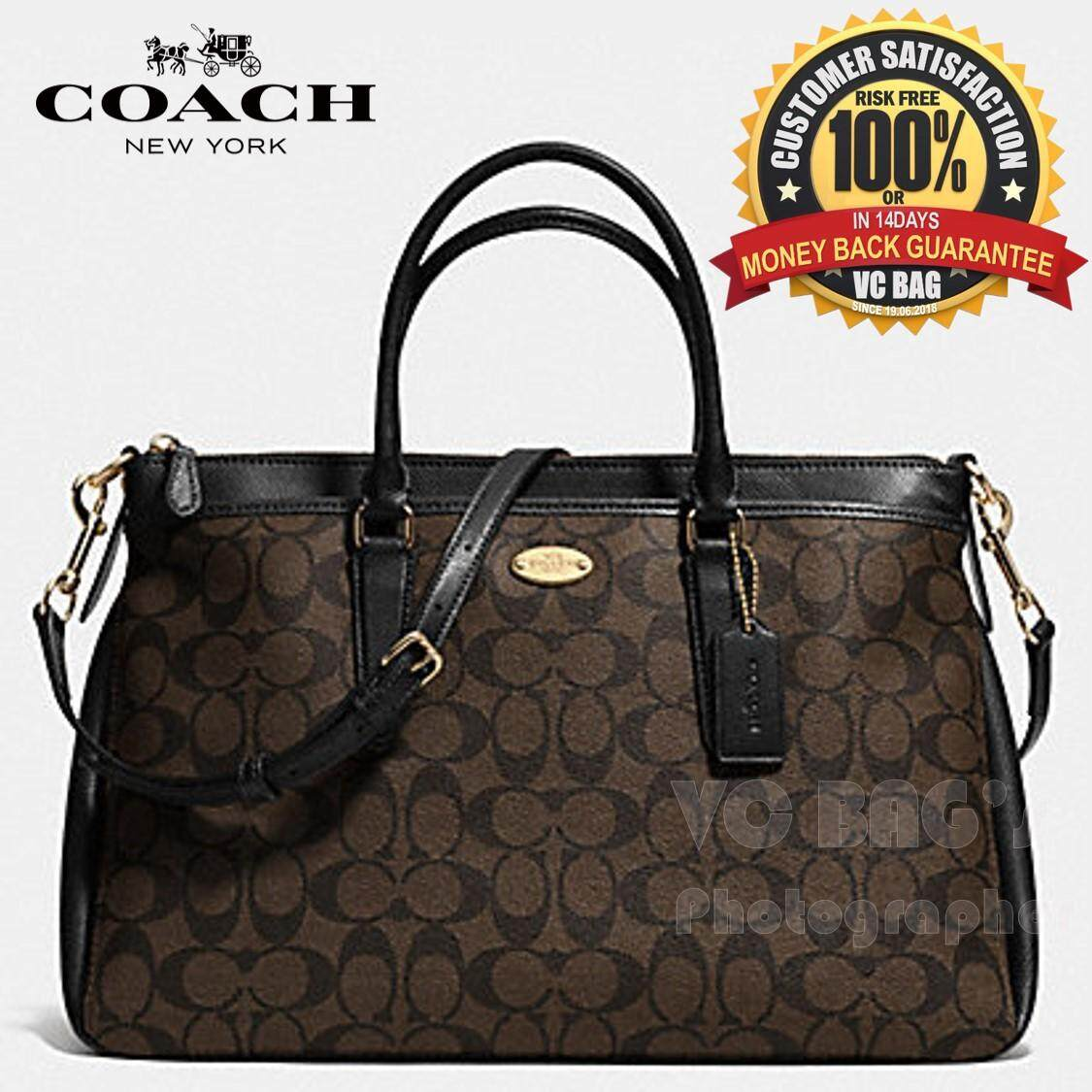 1ff636bc2b ... new zealand coach f34617 morgan satchel in signature bag light gold  brown black 2c8c7 62590