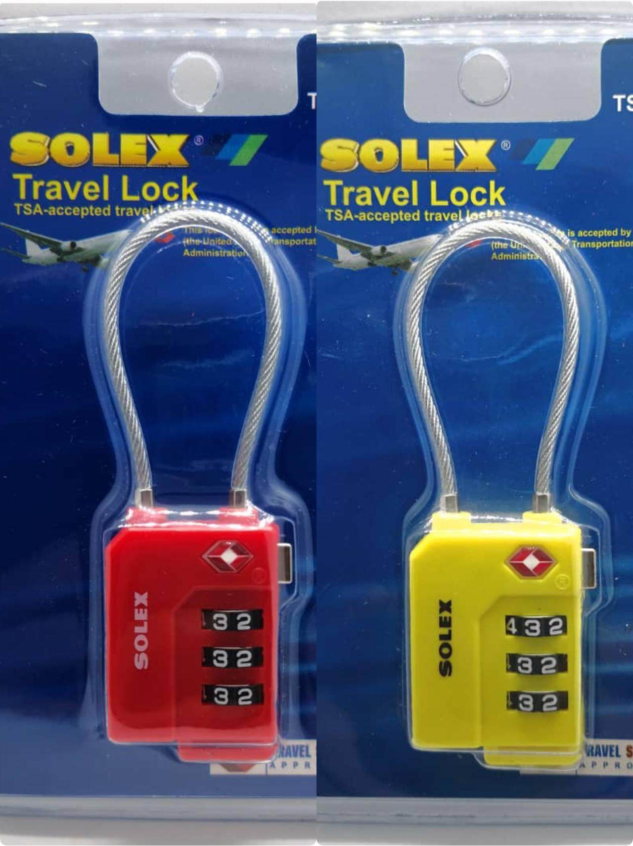 14a07a147 Solex (2 units) 33W 3 Digit Combintation Travel Luggage Lock, TSA Approved,