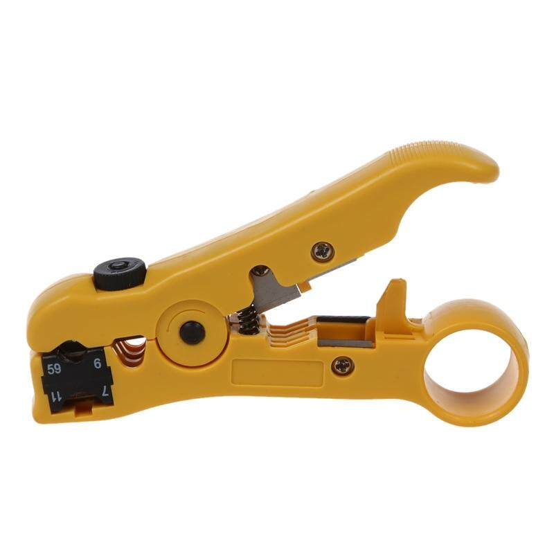 Coaxial Cable Stripper Coax Stripping Tool for RG59/6/7/11 / Reversible Cassette, Cable Cutter Function