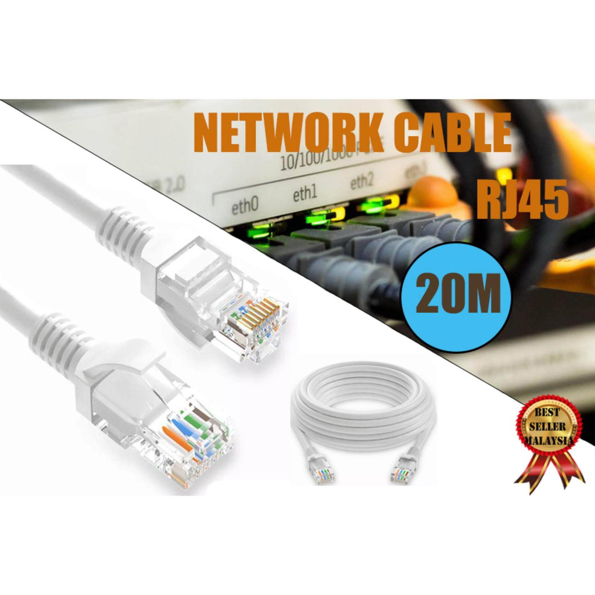 Computer Laptop Serial Cables For The Best Prices In Malaysia Rj45 Wiring Diagram Network Cable Cat5e Ethernet Lan 20 Meters