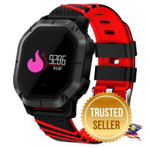 K5 INTELLIGENT SMART WATCH BLOOD PRESSURE IP68 FITNESS BRACELET COLOR DISPLAY SPORT BAND (RED) Malaysia