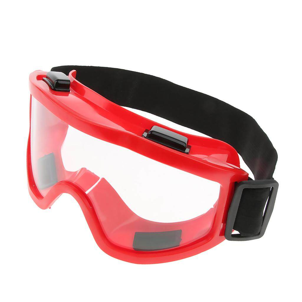 Miracle Shining Safety Goggles Eye Protection Lab Indoor Workplace Protective Glasses Red