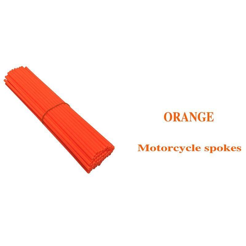 Bzy 72pcs/set Spoke Skin Cover Motocross Dirt Bike 24cm Wheel Rim Guard Protector Wraps By Beautyzy.