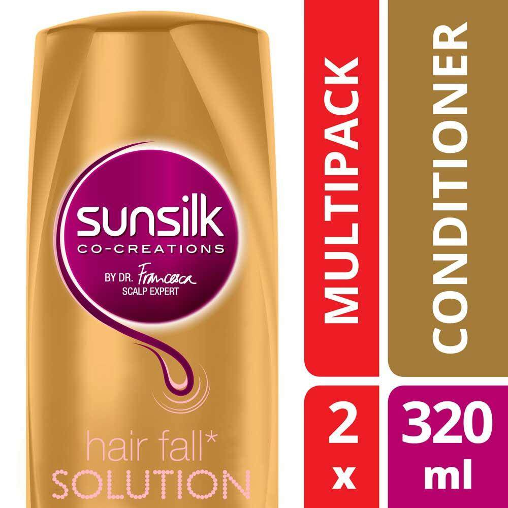 Sunsilk Hair Fall Solution Conditioner 320 Ml X 2 By Unilever Official Store.