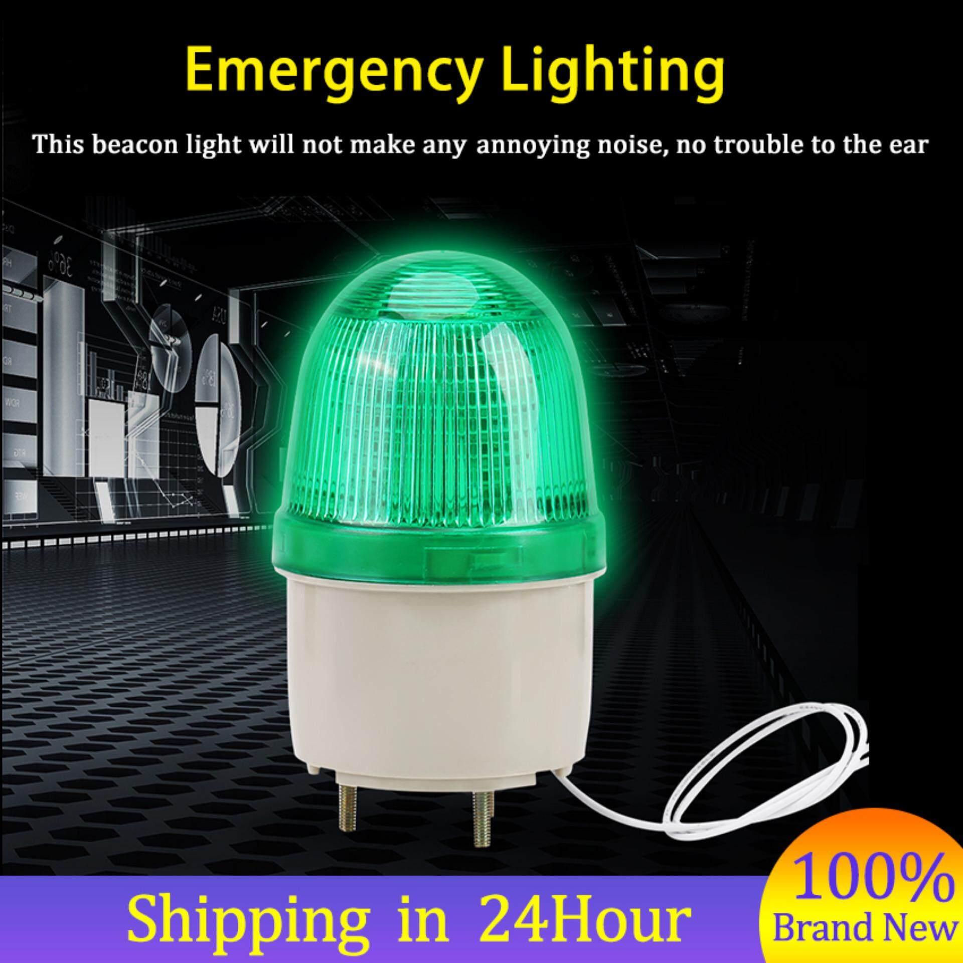 1pc LED Warning Emergency Equipment Flashing Lighting Bulb Beacon Lamp 220V (Green)