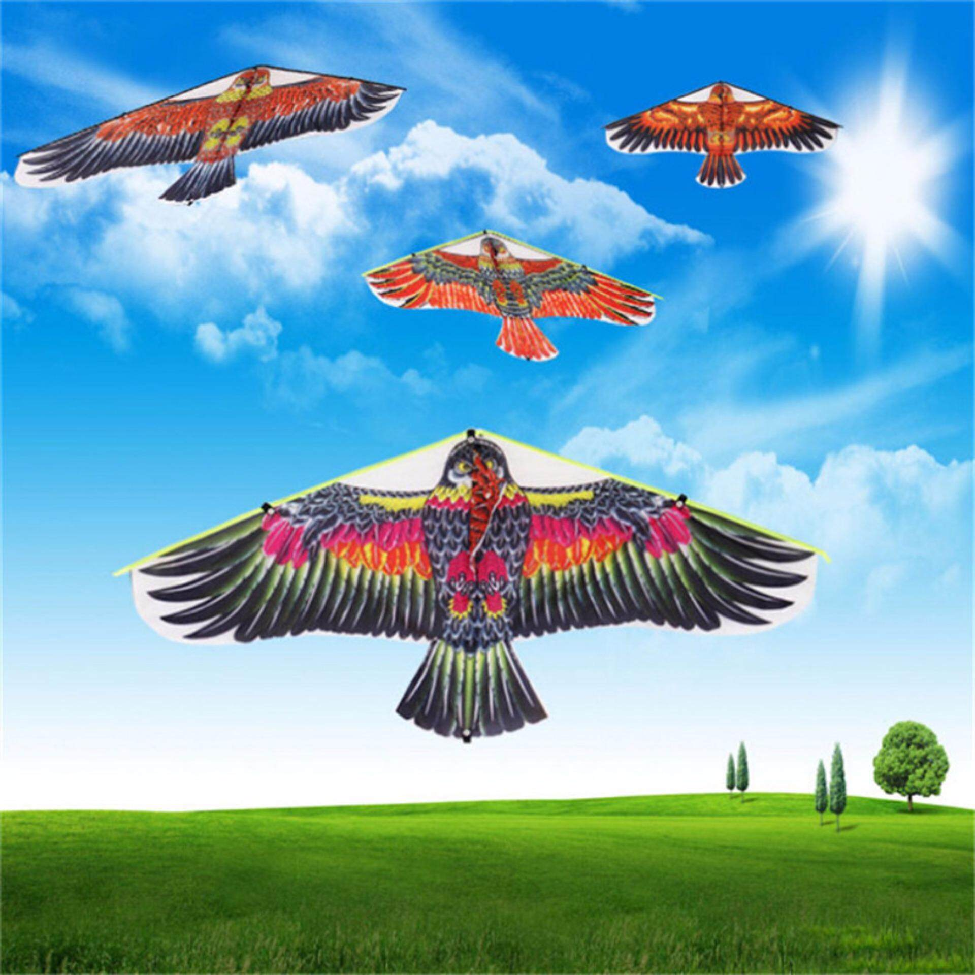 Flat Eagle Bird Kite Children Flying Bird Kites Outdoor Garden Toys By Graceful Bearing.