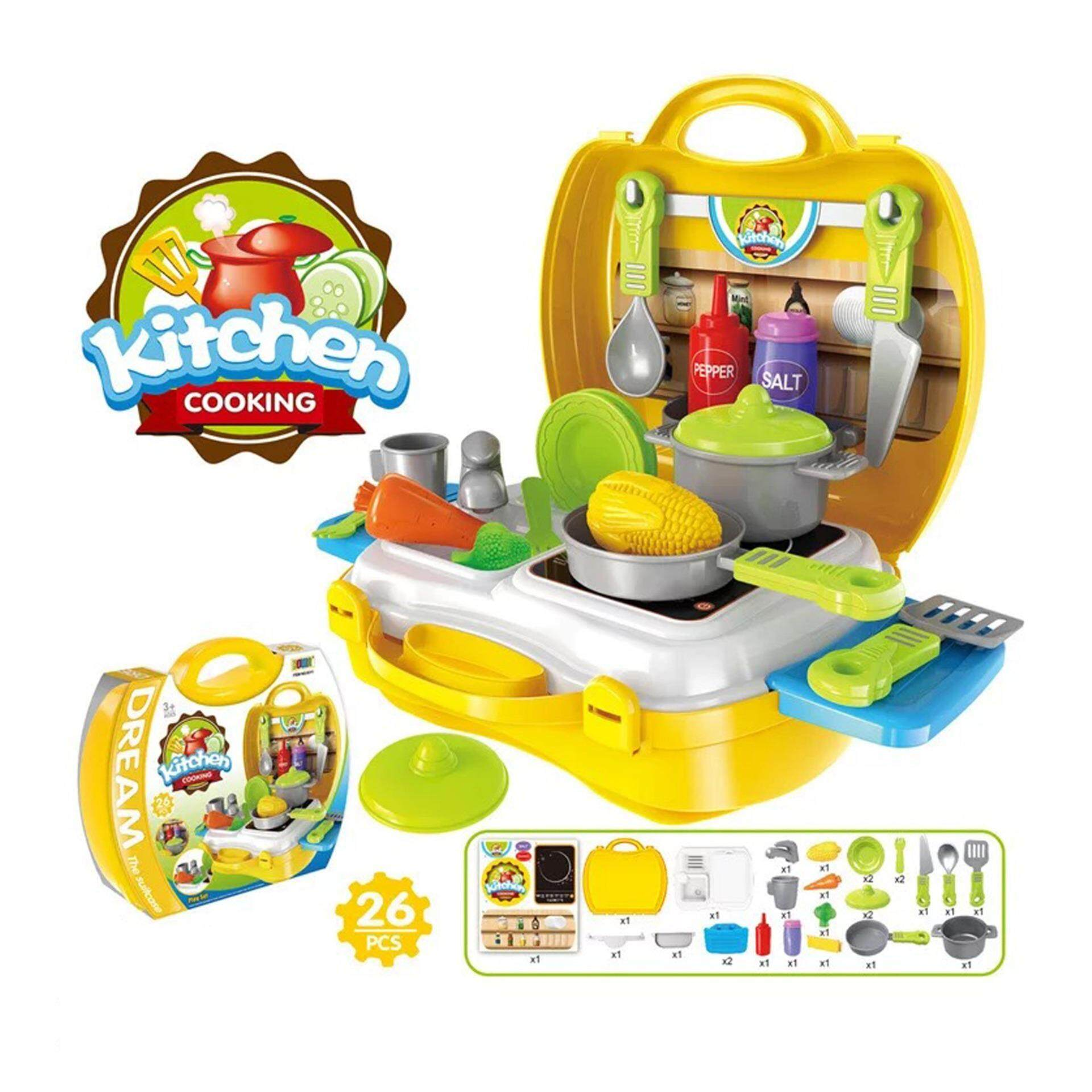 Kitchen Cooking Food Kids Role Play Pretend By Magic Kids.