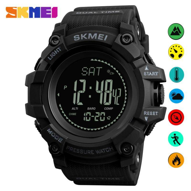SKMEI New Watch Men Sports Watches Outdoor Pedometer Calories Altimeter Compass Thermometer Weather Digital Wristwatches 1358 Malaysia