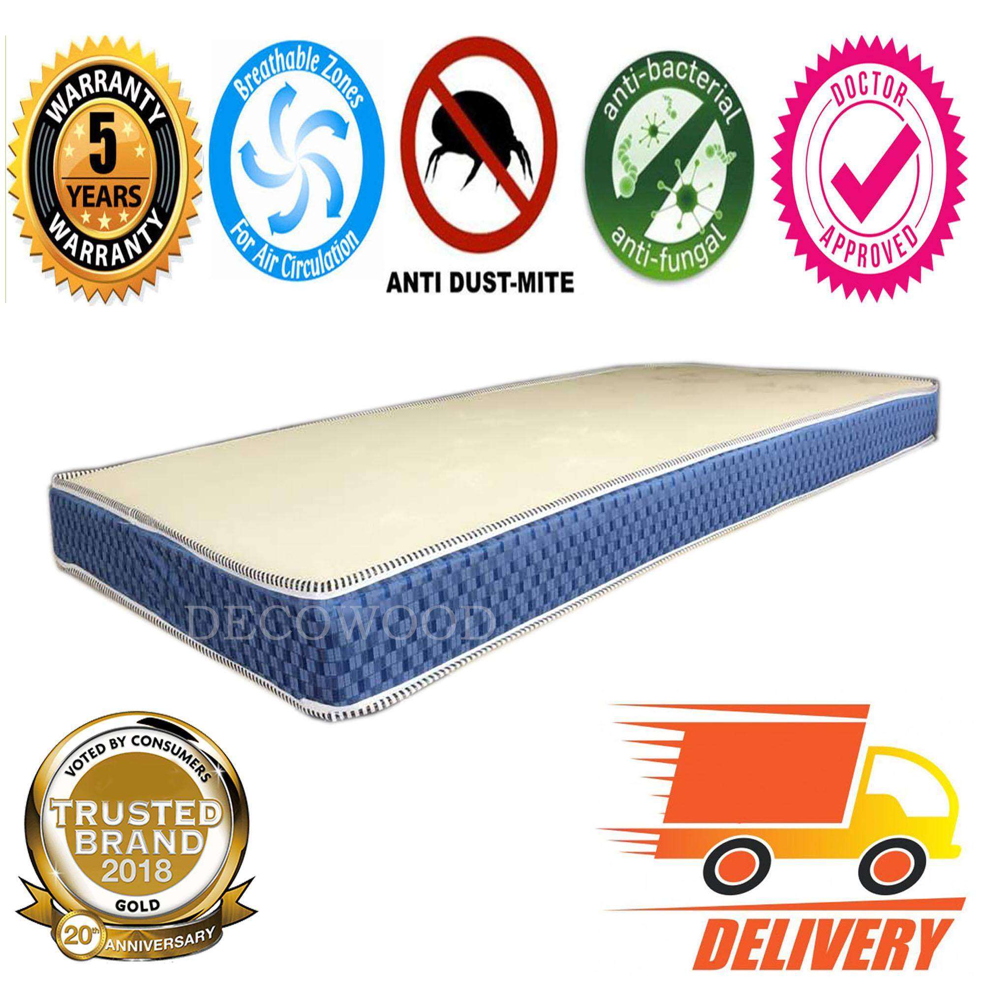 Spinal-Cure 5 Inches Natural Foam Posture Mattress Single Mattress Tilam - Single Size By Decowood.