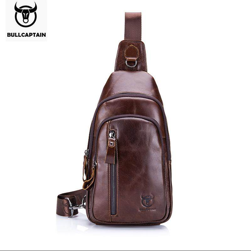 e47a4a88d4 Bull Captain Genuine leather Crossbody Bags Men Leather Shoulder Men Chest  Bags Fashion Travel Handbags Man