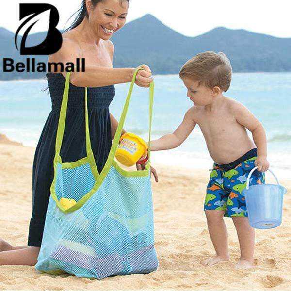 Bellamall:hot New Sand Away Carry All Beach Toys Clothes Mesh Bag Tote Beach Bag Xl Size By Bellamall.