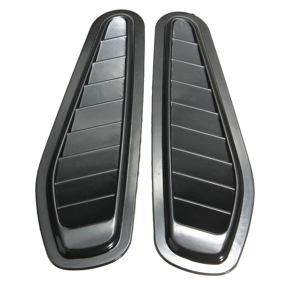 ... 2 x Car Auto Decorative Air Flow Intake Scoop Turbo Bonnet Vent Cover Hood Fender