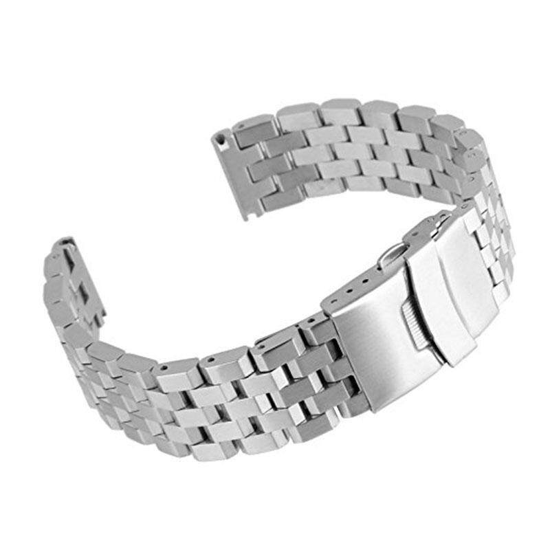 18mm 20mm 22mm 24mm Wide Polished Silver 304 Stainless Steel Watchband Strap Replacement Band for Men and Women Watch Accessary Malaysia