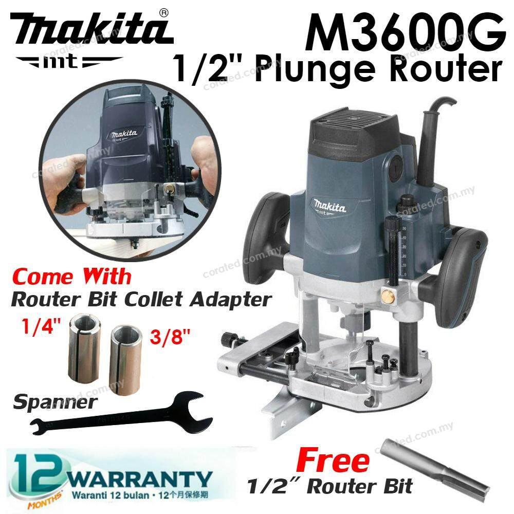 [CORATED] Makita Mt M3600G 1/2 12MM Plunge Router (1 Year Warranty)