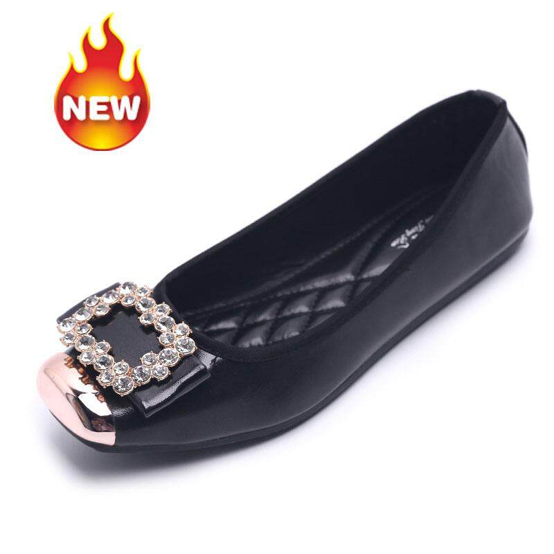 STF Fashion Ballet Flats for women New fashion rhinestone square head  single shoes ballet flat shoes 08506304cc63