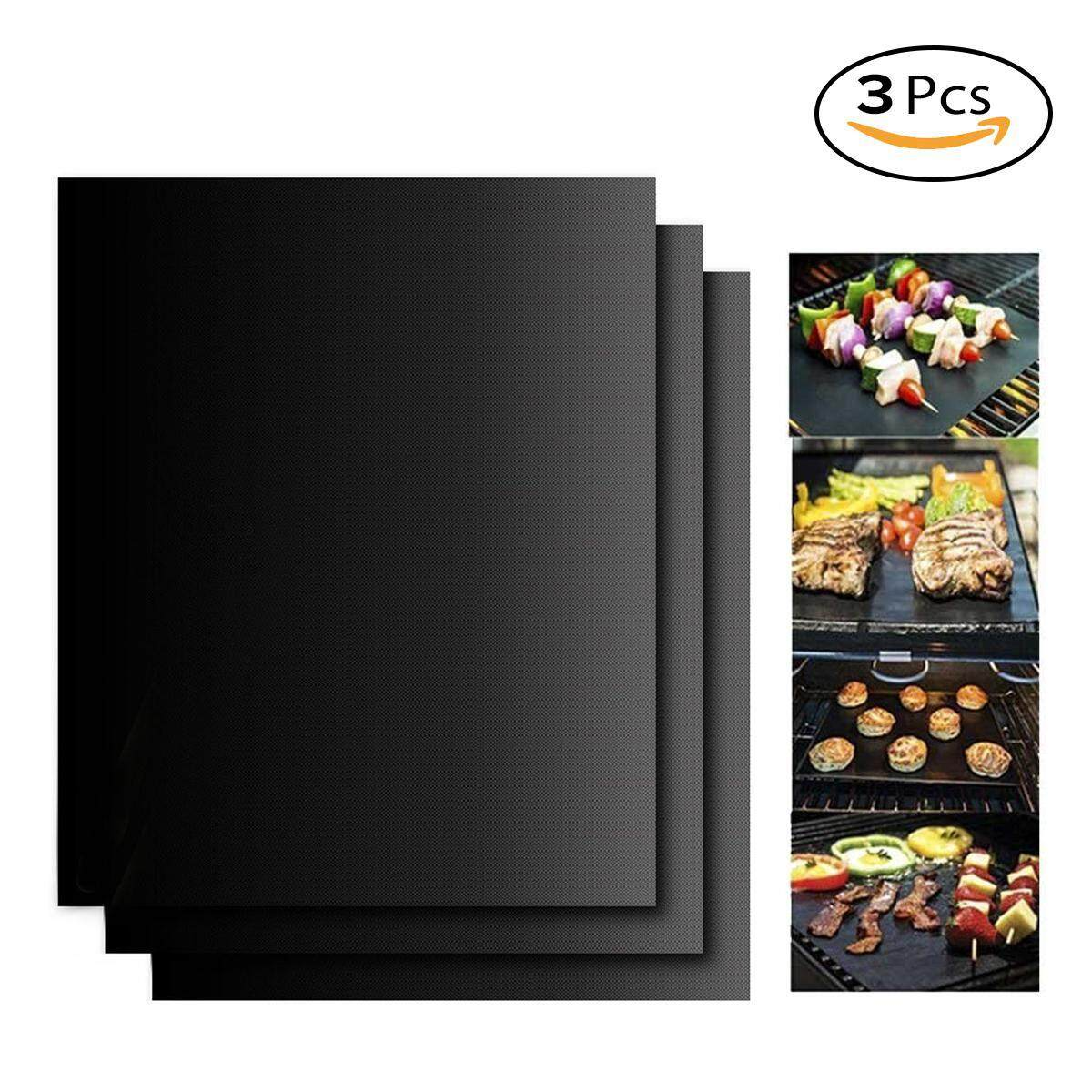 Aolvo BBQ Grill Mat Set Of 3 Mats,Sheets For Grills,Non Stick Cooking Mat ,400x330x0.2mm