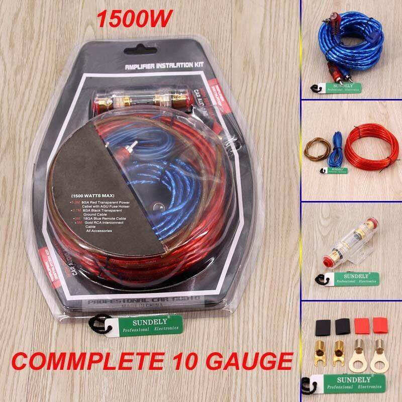 mys car audio subwoofer amplifier amp wiring fuse holder wire cable kit
