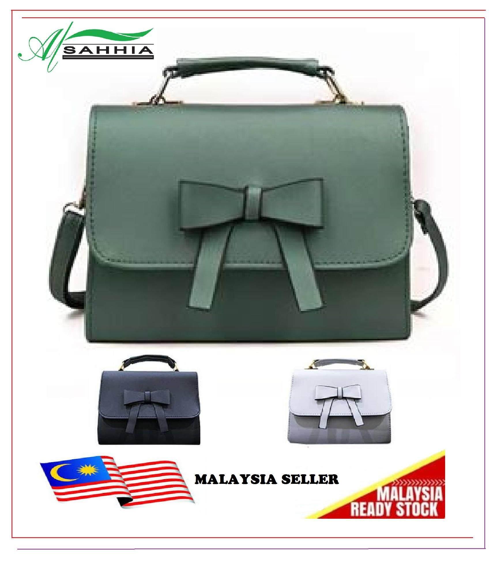 Al Sahhia Ready Stock Women Sling Bag Fashion Ribbon Crossbody Cute Handbag Beg