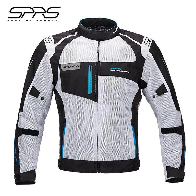 Speed-r Taiwan Riding Jacket Rs002 White + Blue