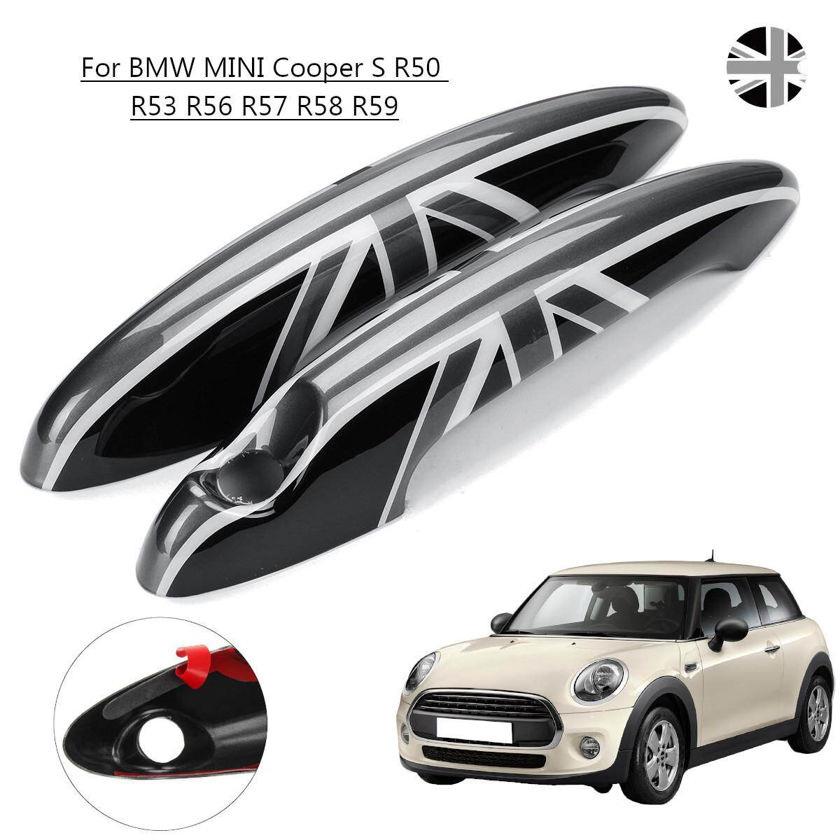 2Pcs ABS Black Car Door Handle Cover For MINI Cooper S R50 R53 R56 R57 R58  R59