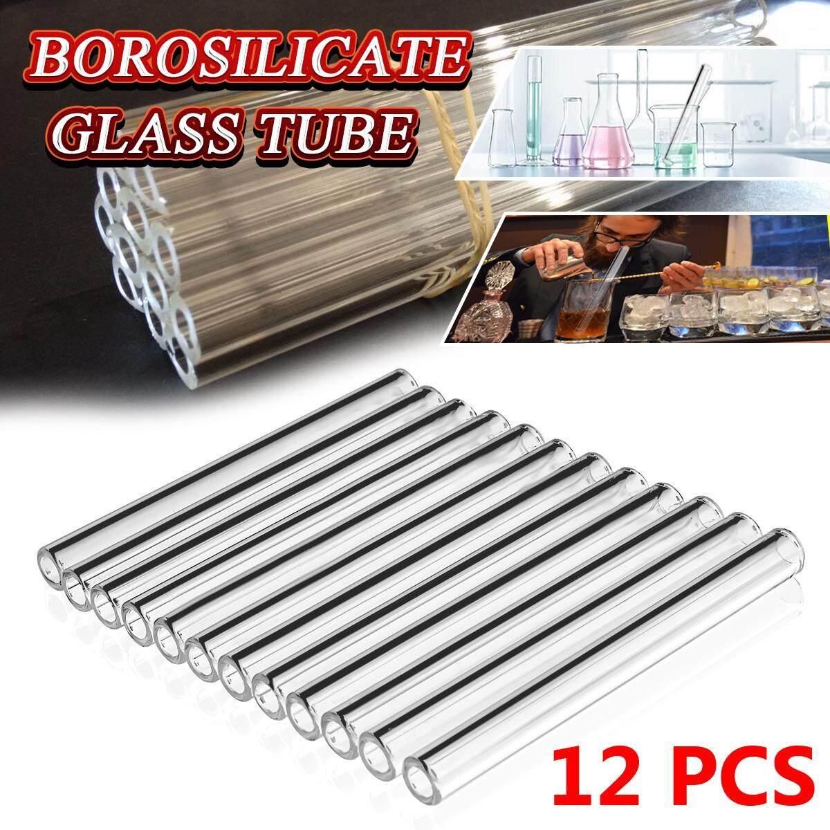 12Pcs 100mm OD 10mm 2.2mm Thick Wall Borosilicate Glass Blowing Tube