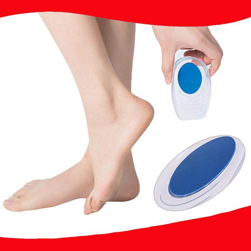 494d67988532 1 pair Small Silicon Gel Heel Cushion Insoles Half Insole Anti-fatigue Pain  Relief Heel