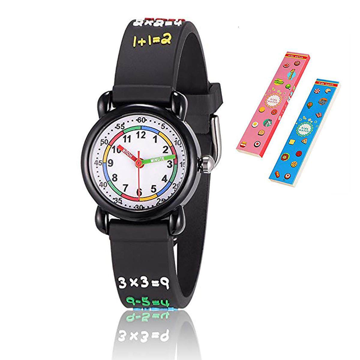 Toddler Kids Watch Alphabet/Mathematics Gifts for 3-10 Years Old 3D Cute Cartoon Wrist Watches Gift for Toddler Girls Boys Malaysia