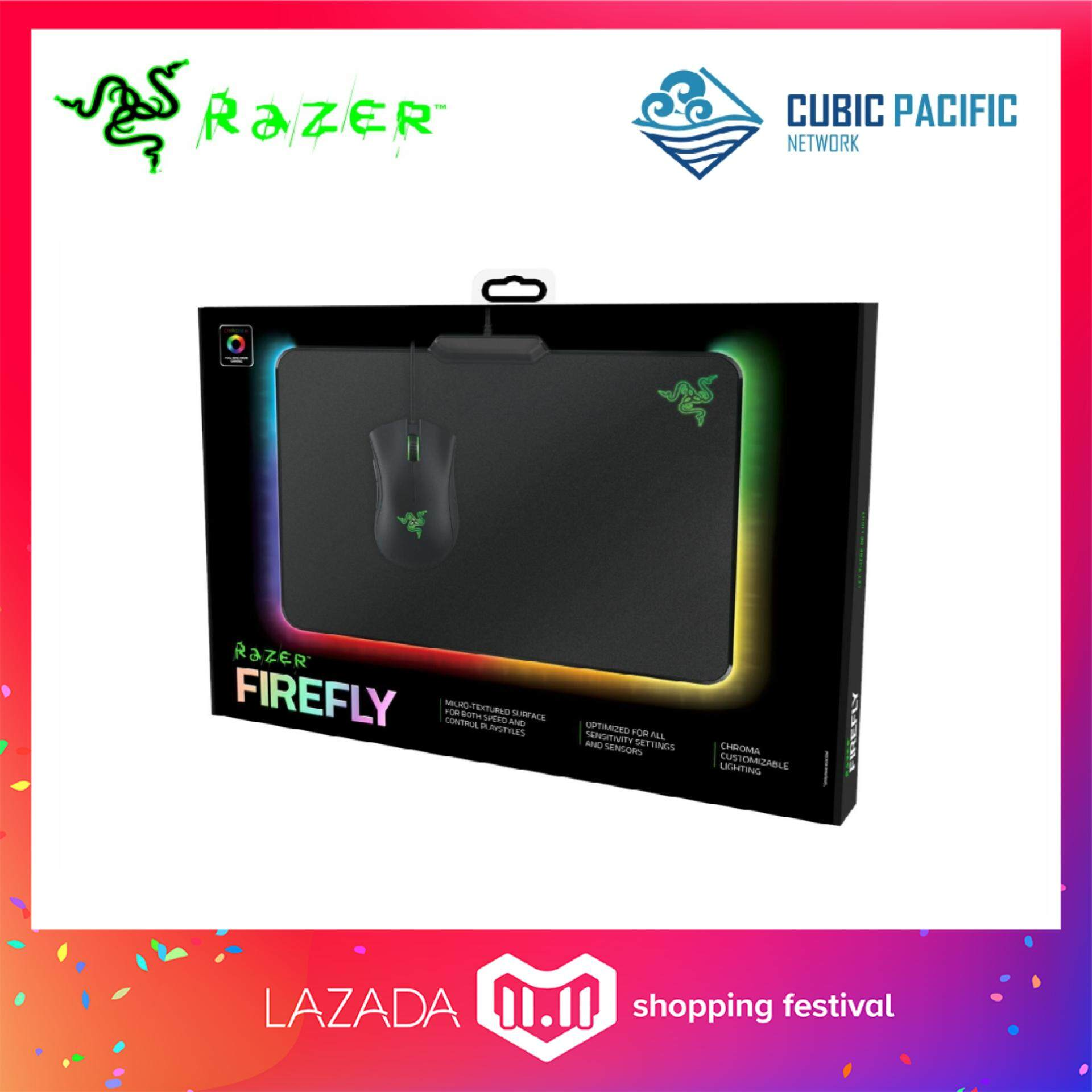 Razer Firefly - Hard Gaming Mouse Mat (Chroma lighting with 16.8 million color options) RZ02-01350100-R3M1 Malaysia
