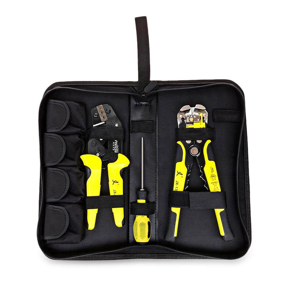 PARON JX - D4301 MULTIFUNCTIONAL RATCHET CRIMPING TOOL [YELLOW AND BLACK]
