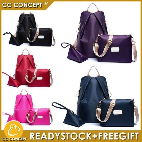 Backpack Cc Concept 3 In 1 Anti Theft Lady Bag Sling Pouch