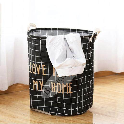 [Free Gift] BeautyLand Love Home Waterproof Laundry Basket Morden Home  Storage Bag   Love