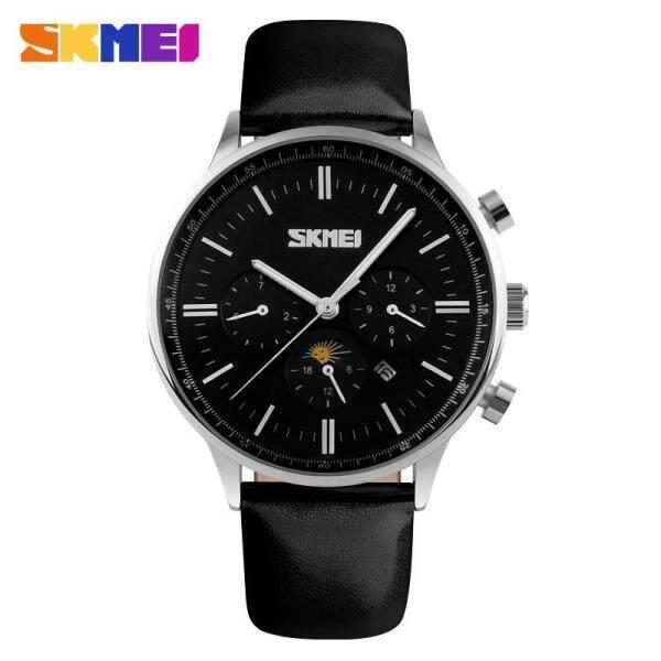 SKMEI Fashion Watches Men Business Quartz Wristwatches 30M Waterproof Casual Leather Brand Casual Watch Jam tangan lelaki 9117 Malaysia