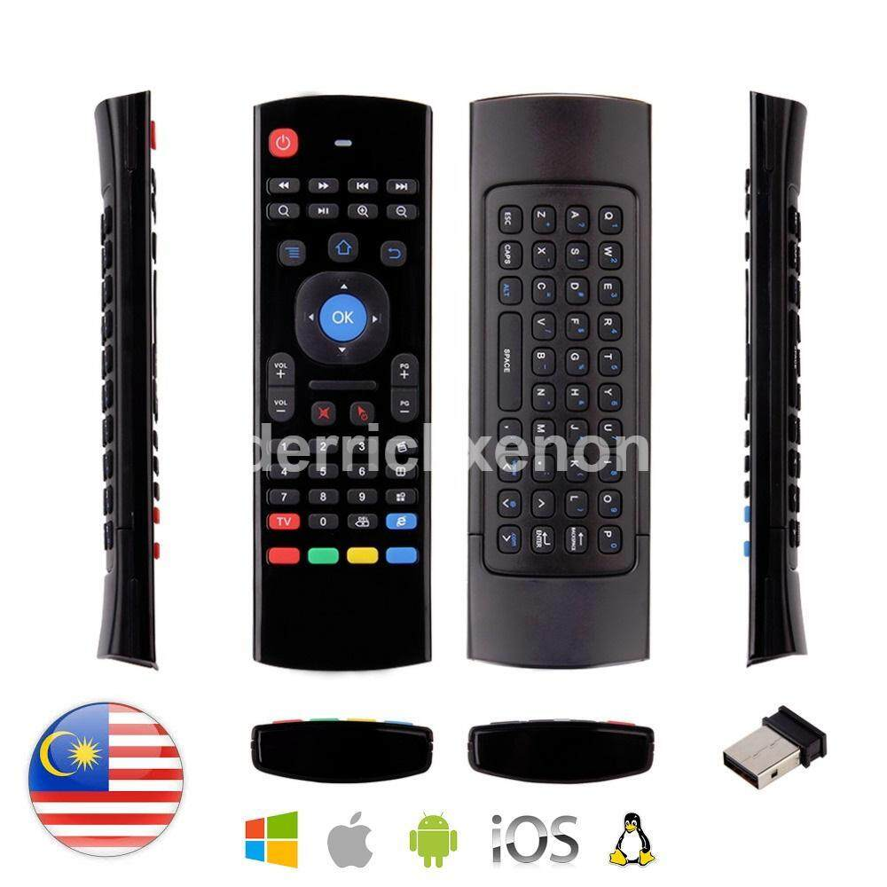 MX3 2.4G Wireless Air Mouse Airmouse Air Fly Mouse with Keyboard Smart Remote Control for Android iOS TV Box Smart TV PC Laptop PS3 Xbox Projector HyypTV Malaysia