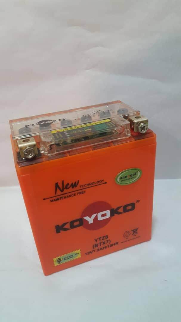 Koyoko Battery • (ytz8 (btx7) 12v7.2ah/10hr Nano-Gel) By K.k Motorspareparts.