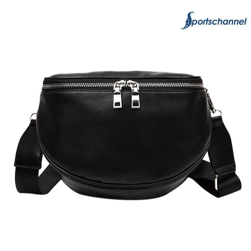 73854ac9ba4 Women PU Leather Waist Bag Casual Belt Shoulder Zipper Crossbody Chest Bag