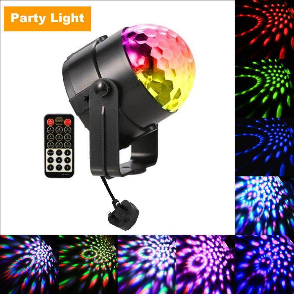 Womdee Party Lights,disco Ball Dj Lights Rgb Stage Lighting Strobe Led 7 Color Changing Sound Activated Magic Ball Effect Strobe Lights With Remote Control For Dj Club Bedroom Kids Birthday[uk Plug] By Womdee.