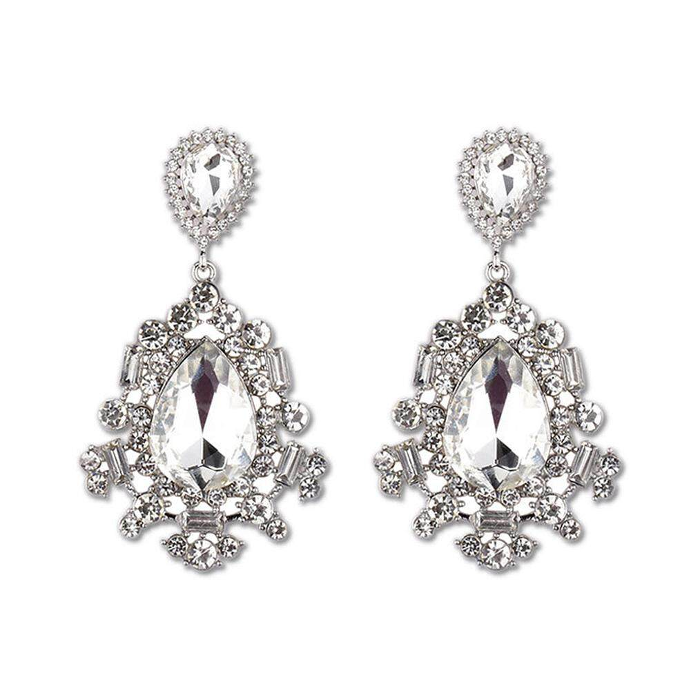 Big House Women Stylish Exquisite Earbob Elegant Shimmer Rhinestone Long Earring By Big House.