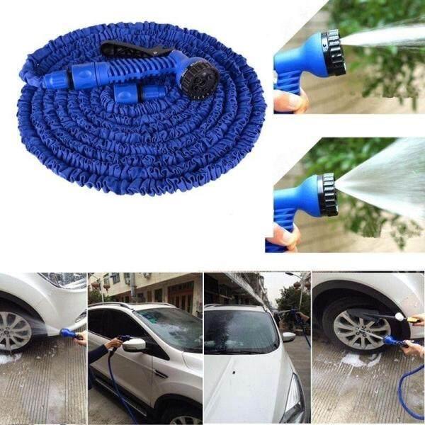 HOSE AIR TEKANAN TINGGI High Pressure Water Wash Pipe Gun 50FT Flexible Car Garden Hose Sprayer Cleaner