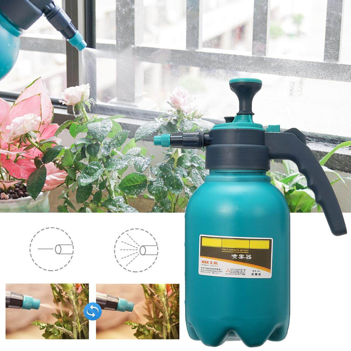 2L Portable Pressure Water Sprayer Pump Handheld Chemical Bottle Garden Tool