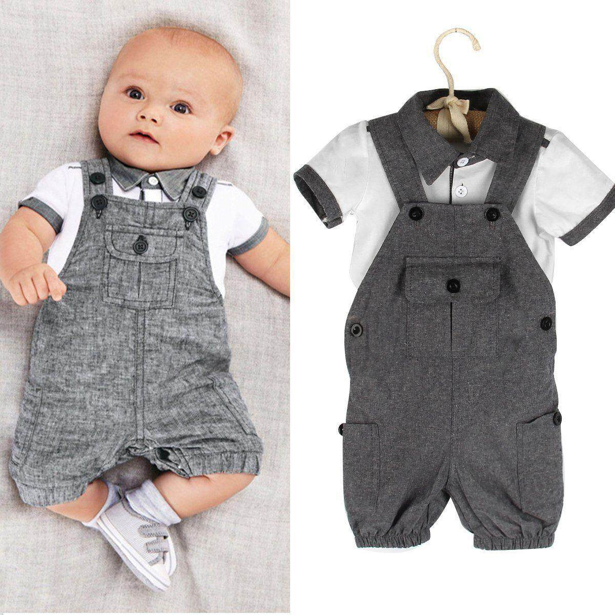 e0d0a2934 2pcs Toddler Infant Newborn Kids Baby Boy Clothes T-shirt Tops+Pants  Outfits Set