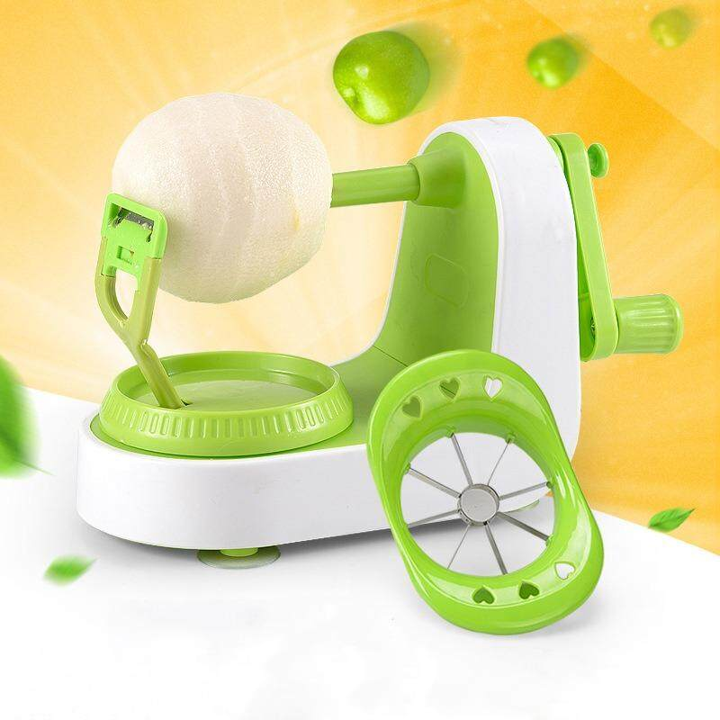 Hand Crank Pear Apple Peeler+Apple Slicers Small Manual Peeling Machine Practical Hand-Operated Kitchen Tool-green