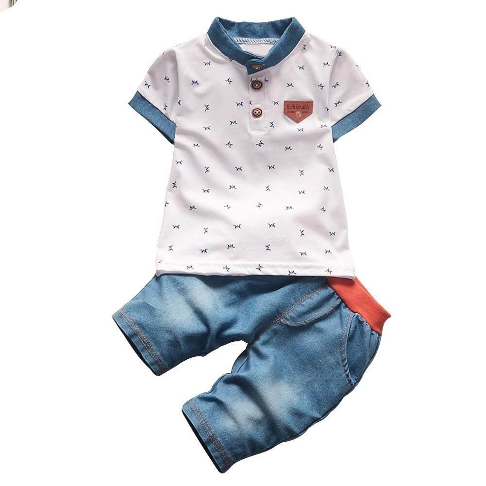 62ea07a9f62c Redcolourful 2 Pcs Set Baby Boys Clothes Set Cartoon Printing T-shirt +  Denim