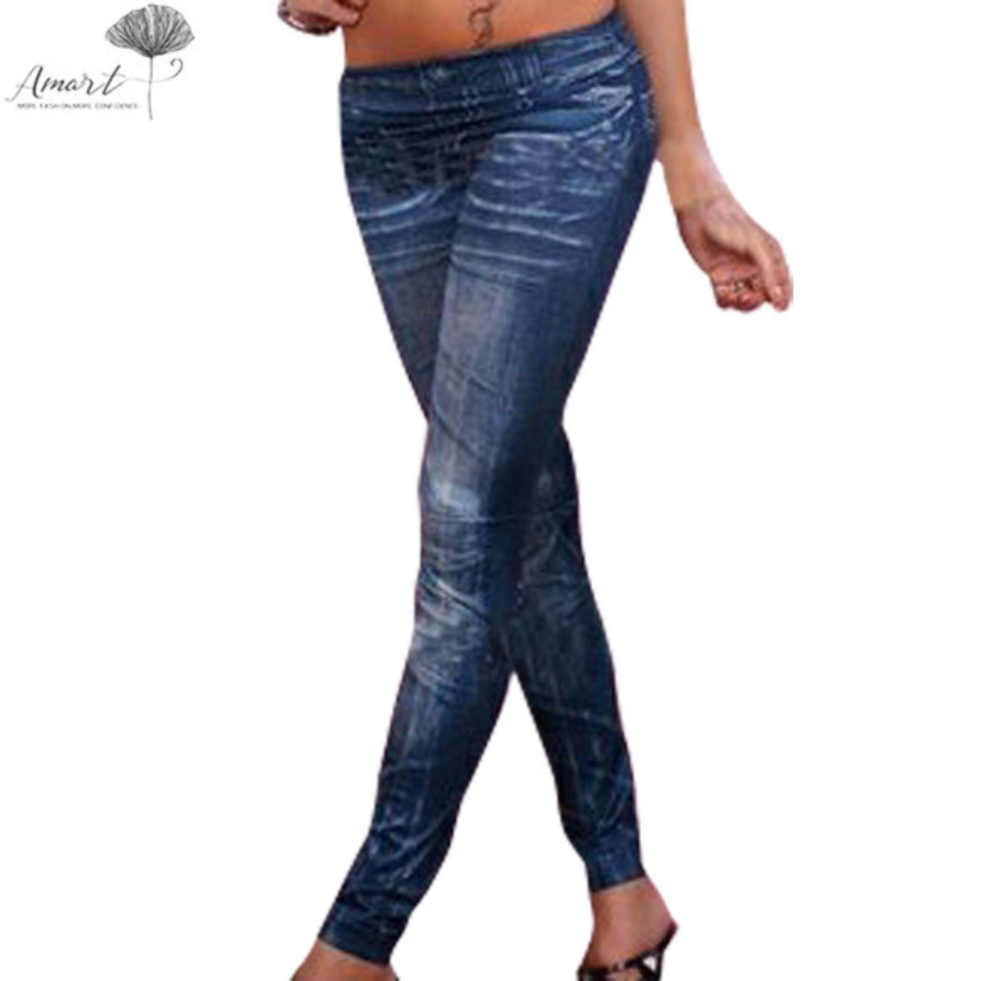 c7e36504512 Amart Stretchy Skinny Stretchy Lady s Denim Jeans Look Leggings Tights Pants