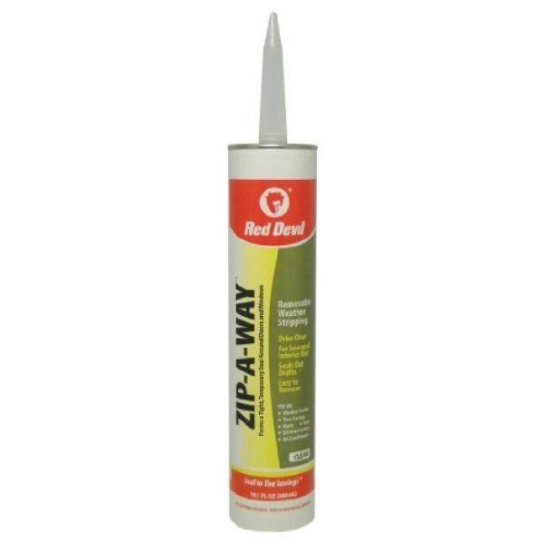 Red Devil 0606 Zip-A-Way Removable Sealant, Clear, 10.1-Ounce