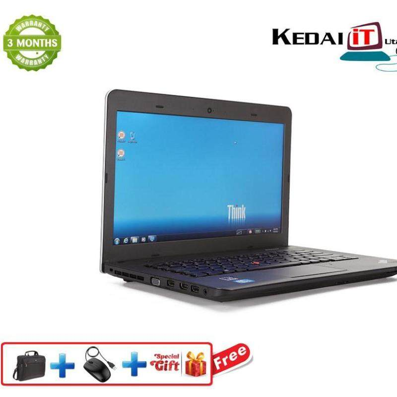 Lenovo Thinkpad E431 , i3 3rd Gen, 4GB Ram, 320 Gb Hdd, Webcam, DVD Rw, Windows 10 , Office, + Free Bag (Recon Laptop) Malaysia