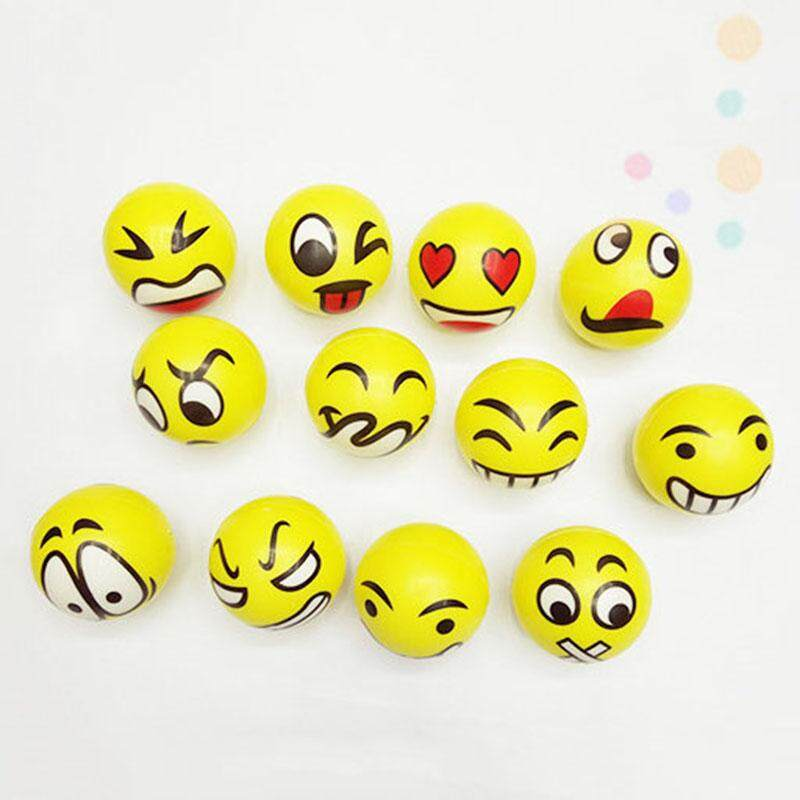 3pcs/lot Funny Emoji Face Squeeze Ball Kids Adult Antistress Hand Finger Exercise Stress Relief Classic Toy Balls By Rytain.