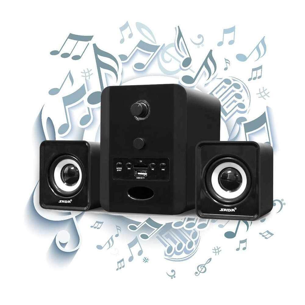Versea Bluetooth Desktop PC Laptop Mobile Phone Stereo Combination Speaker TF/U Disk FM Radio Music Player SADA D-223 Malaysia