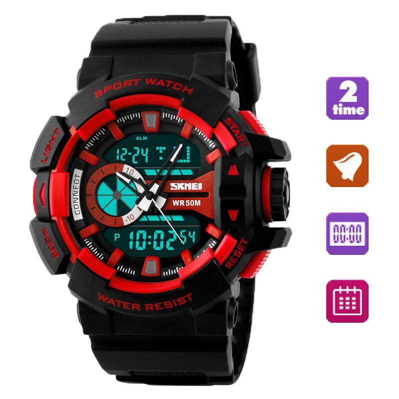 SKMEI Fashion Watch Men G Style Waterproof LED Sports Military Watches Shock Mens Analog Quartz Digital Watch jam tangan lelaki Malaysia
