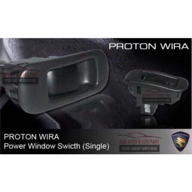Oem Fitment Wira Power Window Switch Single Oem (passengers Side) By Kaki Kereta Auto Supply Sdn Bhd.
